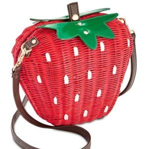 Betsey Johnson Wicker Strawberry Purse Berry Nice